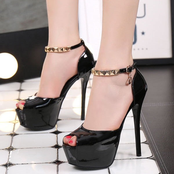sexy platform pumps women shoes high heels