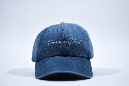 dreamgirl dad hat denim