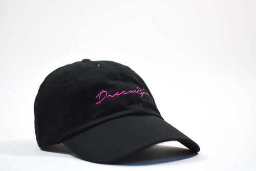 dreamgirl dad hat black & hot pink