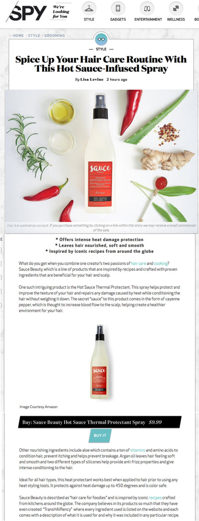 Spice Up Your Hair Care Routine with This Hot Sauce-Infused Spray article in Spy.