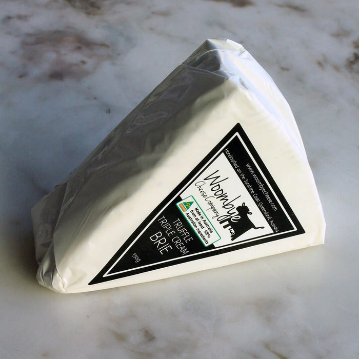 Woombye Cheese Company, Triple Cream Truffle Brie, 150g
