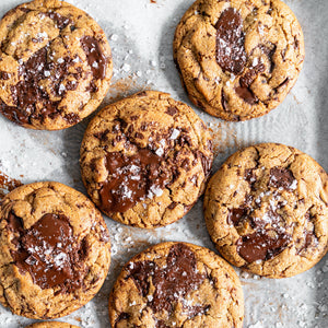Peanut Butter & Belgian Dark Choc Chip Cookies