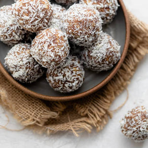 Date & Coconut Balls, made with Real Butter and the Works