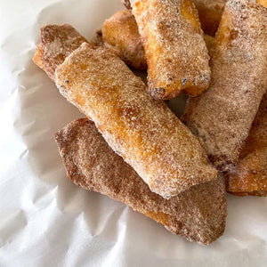 Milk Tart Spring Rolls dusted with Cinnamon Sugar