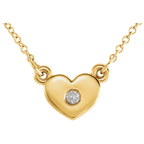 14K Diamond Heart Necklace