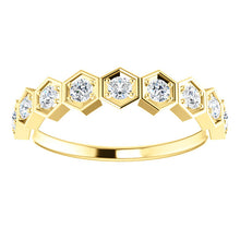 Load image into Gallery viewer, Geometric Diamond Stackable Ring