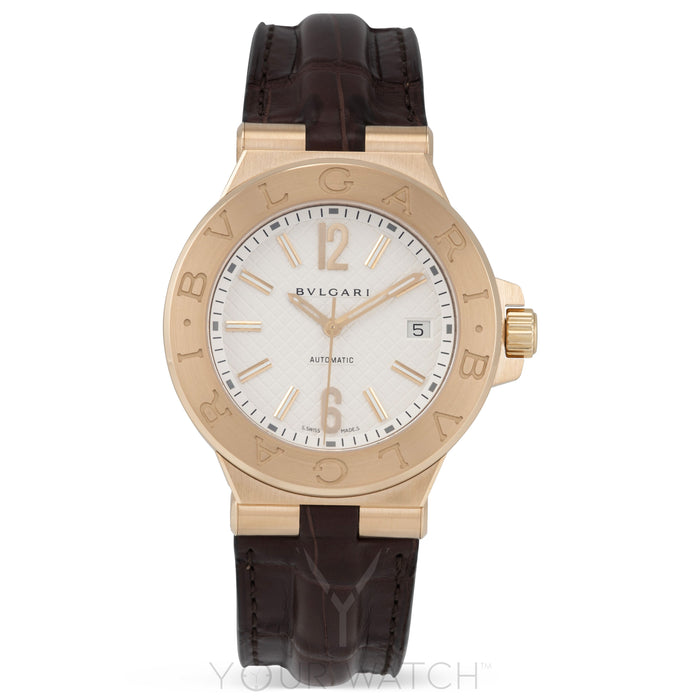 Bvlgari Diagono 18k Rose Gold Professional Automatic Men's Watch