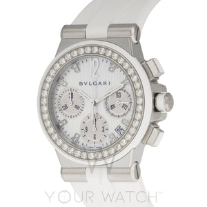 Bvlgari Diagono White Diamond Chronograph Ladies Watch 101755