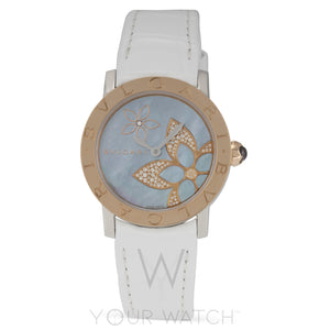 Bvlgari Blue Mother Of Pearl Dial Automatic Ladies Watch 101896