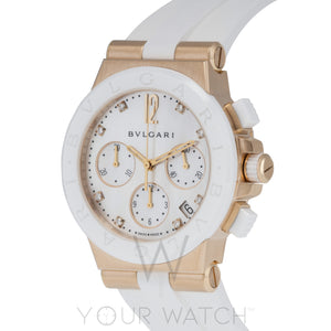 Bvlgari Diagono 18 Carat Pink Gold Chronograph Ladies Watch 101994