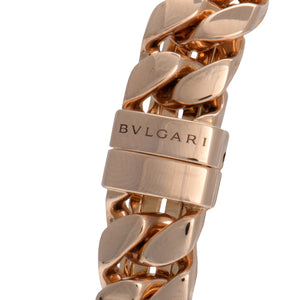 Bvlgari Catene Pink Gold Black Lacquer Dial Ladies Watch 102036