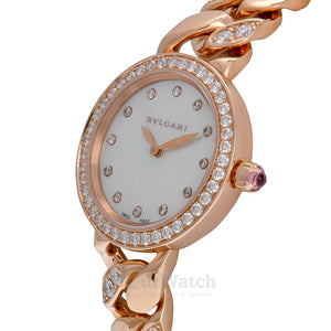 Bvlgari Catene White Mother of Pearl Dial 31mm Ladies Watch 102037