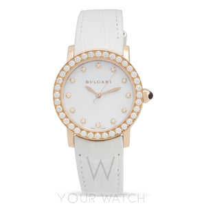 Bvlgari Automatic 18 Carat Rose Gold 33mm Ladies Watch 102089