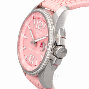 Chopard Mille Miglia Gran Turismo XL Pink Dial Rubber Ladies Watch 178997-3001