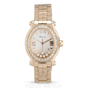 Chopard Happy Sport 18 Carat Rose Gold Ladies Watch 275350-5004