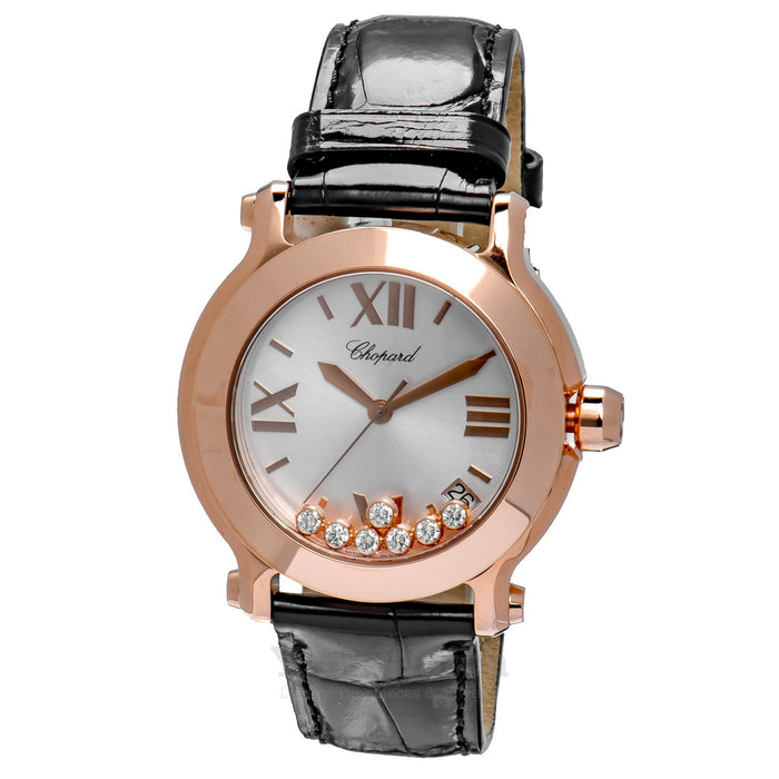 Chopard Happy Sport Round 18 Carat Rose Gold Ladies Watch