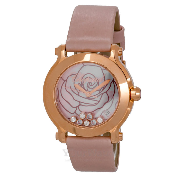Happy Sport La Vie en Rose Diamond 18 Carat Rose Gold Ladies Watch