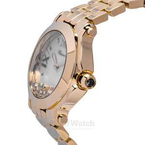 Chopard Happy Sport Round 36mm 18 Carat Rose Gold Ladies Watch 277472-5001