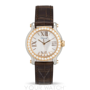 Chopard Happy Sport Round Quartz 30mm Ladies Watch 278509-6006