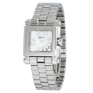 Chopard Happy Sport Square Steel Diamond Ladies Watch 278516-3002