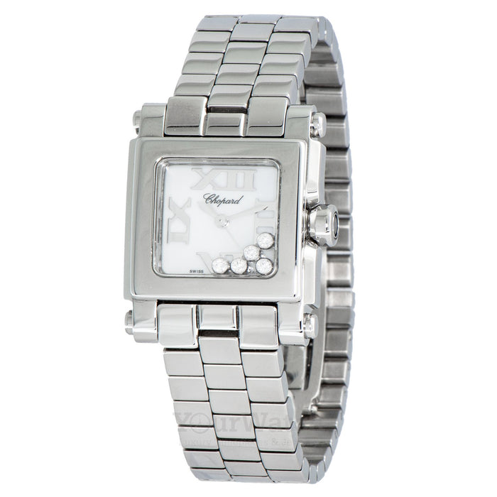 Chopard Happy Sport Square Steel Diamond Ladies Watch