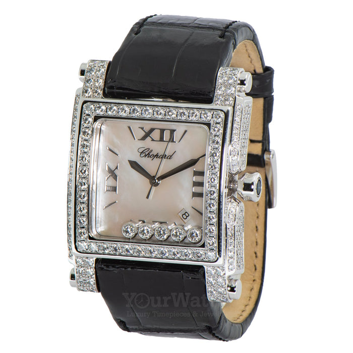Chopard Happy Sport Square II Mother of Pearl Diamond Ladies Watch