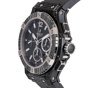 Hublot Big Bang Chronograph Automatic Diamond Black Dial Mens Watch