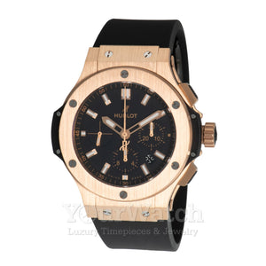Hublot Big Bang Black Dial 18kt Rose Gold Mens Watch 301.PX.1180.RX