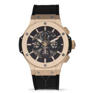 Hublot Big Bang Aero Bang Gold 44mm Black Rubber Men's Watch 311.PX.1180.GR