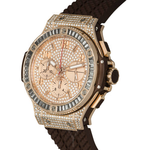 Hublot-Hublot Big Bang Automatic Chronograph 18k Rose Gold Diamond 41mm Mens Watch-341.PC.9010.RC.0904-$64140.00