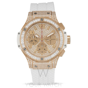 Hublot Big Bang Porto Cervo Automatic Chronograph 18kt Rose Gold Diamond Men's Watch 341.PE.9010.RW.0904