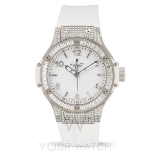 Hublot-Hublot Big Bang Stainless Steel Diamond Bezel Quartz Women's Watch-361.SE.2010.RW.0904-$30660.00