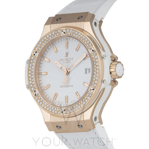 Hublot-Hublot Big Bang 18k Rose Gold Diamond Bezel Automatic 38mm Men's Watch-365.PE.2180.LR.1104-$17095.00