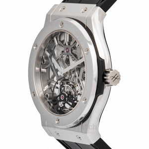 Ultra Thin Skeleton Tourbillon Dial Automatic Mens Watch