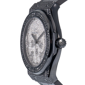 Classic Fusion Black Skull Full Pave 45mm Men's Watch 511.ND.9011.LR.1700.SKULL