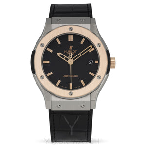 Hublot Classic Fusion Titanium Rose Gold Bezel Automatic Men's Watch 511.NO.1180.LR