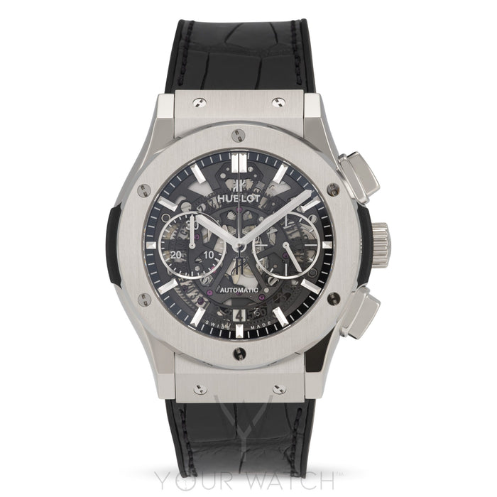 Hublot Classic Fusion Automatic Chronograph Skeleton Dial Mens Watch