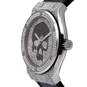 Hublot Classic Fusion Skull Full Pave Diamond Bezel Men's Watch 542NX9000LR1704SKULL