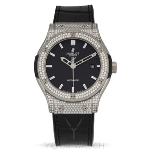 Hublot-Hublot Classic Fusion Automatic Titanium Diamond Case 42mm Mens Watch-542.NX.1170.LR.1704-$13020.00
