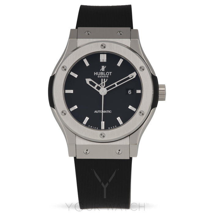 Hublot Classic Fusion Automatic Black Dial Black Rubber 42mm Mens Watch