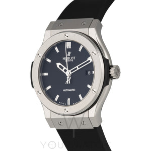 Hublot Classic Fusion Automatic Black Dial Black Rubber 42mm Mens Watch 542.NX.1170.RX