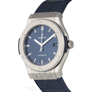 Hublot Classic Fusion Automatic Blue Dial 42mm Mens Watch 542.NX.7170.LR