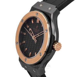 Hublot Classic Fusion Black Dial Black Leather Strap 42mm Mens Watch 561.CP.1780.LR
