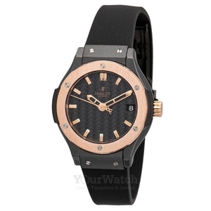 Hublot-Classic Fusion Quartz Ceramic 33mm Ladies Watch-581.CO.1780.RX-$5495.00
