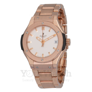 Hublot Classic Fusion Quartz Gold 33mm Ladies Watch 581.OX.2610.OX