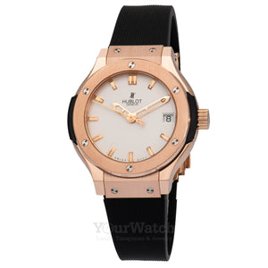 Hublot Classic Fusion Quartz Gold 33mm Ladies Watch 581.OX.2610.RX