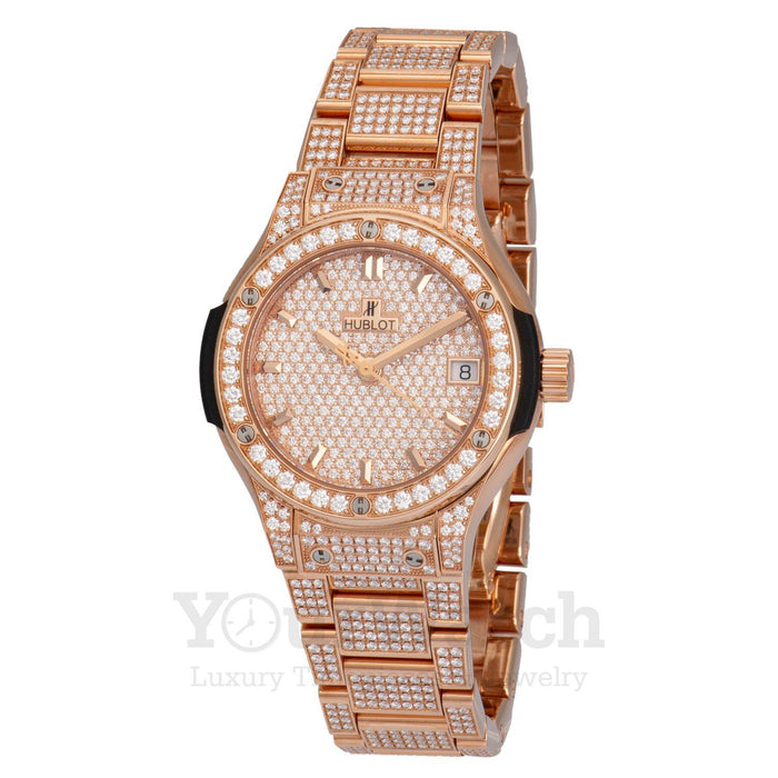 Classic Fusion Diamond Pavé Dial Ladies Watch