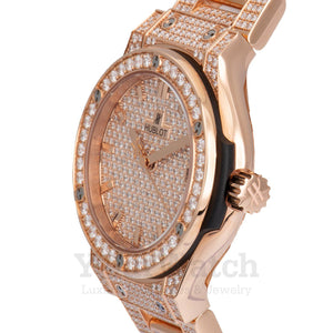 Hublot Classic Fusion Diamond Pavé Dial Ladies Watch 581.OX.9010.OX.3704