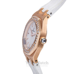 Audemars Piguet-Audemars Piguet Royal Oak Diamond Rose Gold Ladies Watch-67601.OR-$18000.00