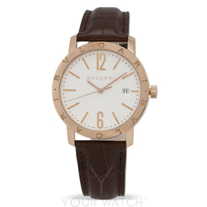 Bvlgari White Dial 18K Pink Gold Men's Watch 101965